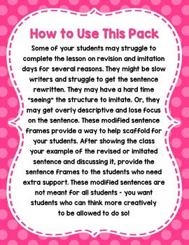 Volume 2 Grades 3-5 Mentor Sentences Modifications ADD-ON Pack