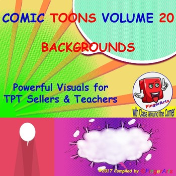 Volume 20 COMIC BACKGROUNDS for TPT Sellers / Creators / Teachers
