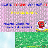 Volume 21 COMIC BACKGROUNDS for TPT Sellers / Creators / Teachers