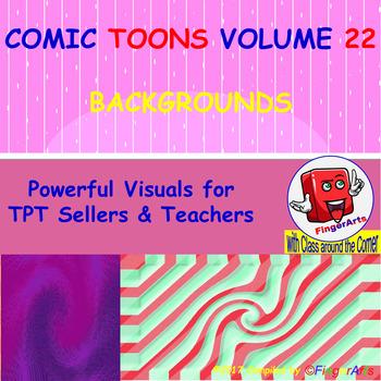 Volume 22 COMIC BACKGROUNDS for TPT Sellers / Creators / Teachers