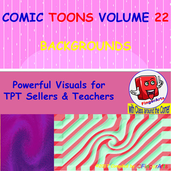 Volume 22 COMIC BACKGROUNDS for TPT Sellers / Creators / Teachers