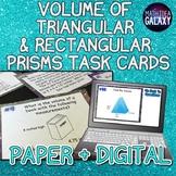Volume of Rectangular and Triangular Prisms Task Cards