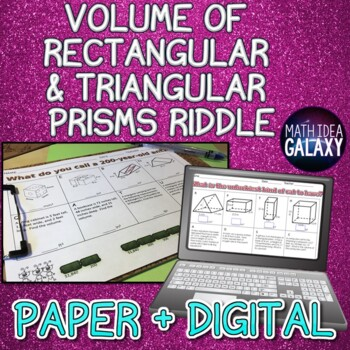 Volume of Prisms Activity: Riddle