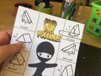 Volume of Rectangular and Triangular Prisms Activity