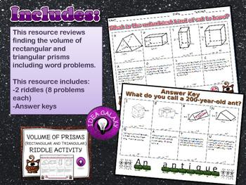 Volume of Rectangular and Triangular Prisms Activities & Games