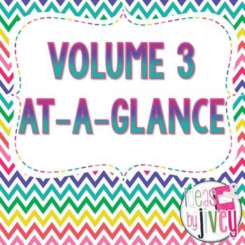 Volume 3 At-A-Glance (Mentor Sentences & Better Than Basal
