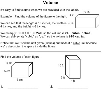 Volume, 3rd grade - worksheets - Individualized Math