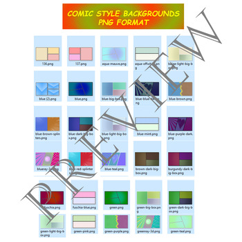 Volume 4 COMIC BACKGROUNDS for TPT Sellers / Creators / Teachers