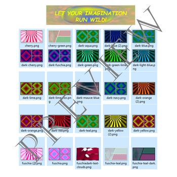 Volume 5 COMIC BACKGROUNDS for TPT Sellers / Creators / Teachers
