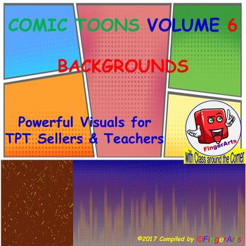 Volume 6 COMIC BACKGROUNDS for TPT Sellers / Creators / Teachers