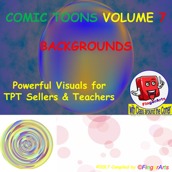 Volume 7 COMIC BACKGROUNDS for TPT Sellers / Creators / Teachers