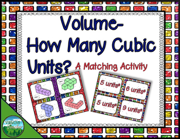 Volume - A Matching Activity
