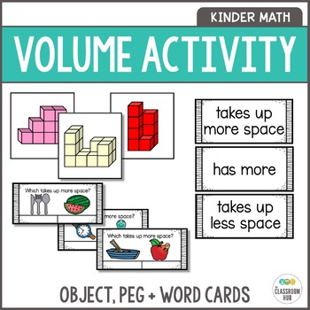 Volume Activities - Block Building Cards, Language Word Wall and Clip Cards.