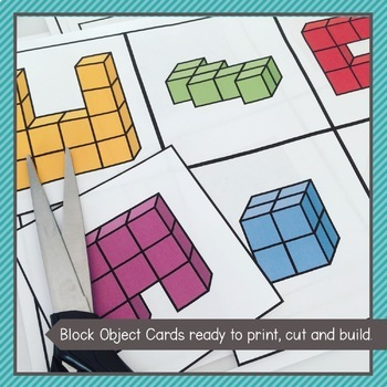 Volume Activities - Block Building Cards, Language Word Wall and Peg Cards.