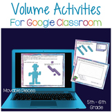 Volume Activities for Google Classroom   Distance Learning