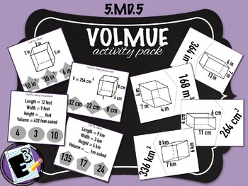 Volume Activity Pack - 5th Grade