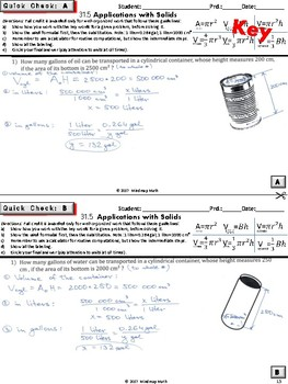 Volume Applications and Real Life Word Problems  (Geometry Curriculum -Unit 31)