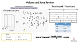 Volume & Area Review and Test Taking Strategies