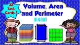 Volume, Area and Perimeter Task Cards-TEKS 5.4H