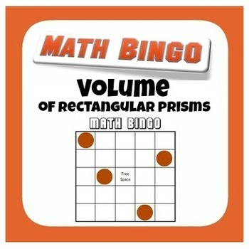 Volume Bingo - Rectangular Prisms with Fractional Edge Lengths