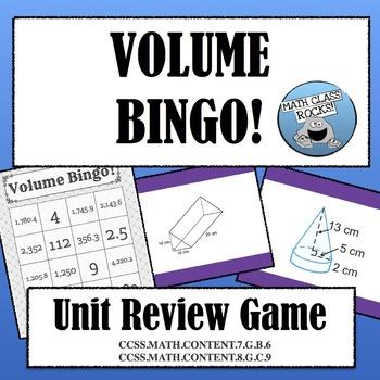 VOLUME BINGO! UNIT REVIEW GAME