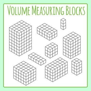 Volume Blocks for Measuring Volume, Length, Width, Height or Surface Area