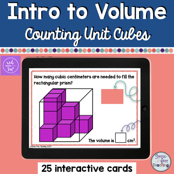 Volume Task Cards for use with Boom Learning