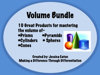 Volume Bundle!! 10 Great Products!! Answer Keys Included!!