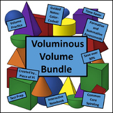Volume Cones Cylinders Spheres Lessons Assessment Spiraling BUNDLE
