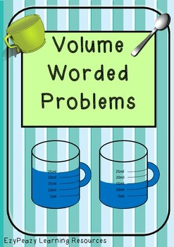 Volume & Capacity Worded Problems