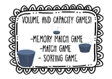 Volume & Capacity games - grade year 3 4 - Converting Meas