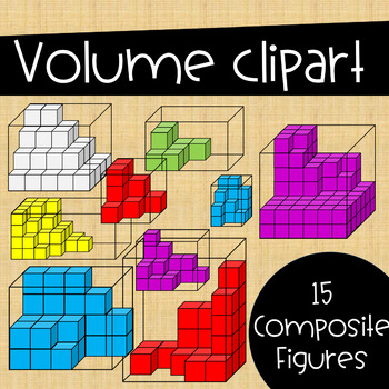 Volume Clip Art ~ Composite Figures inside Transparent Prisms