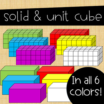 Volume Clip Art ~ Huge Set of Rectangular Prisms
