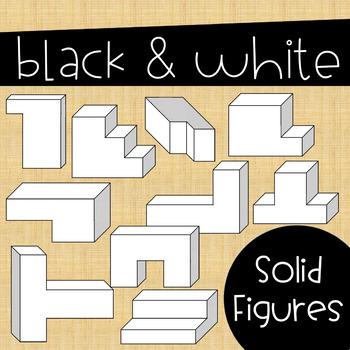 Volume Clip Art ~ Solid Composite Figures