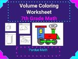 Volume Coloring Worksheet 7.G.B.6