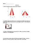 Volume Cones, Cylinders and Spheres Review