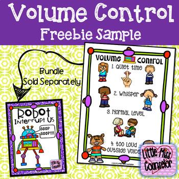 Volume Control Poster Sample Freebie