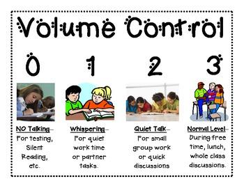 Volume Control Sign