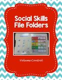 Volume Control Social Skills Folder-- Editable!