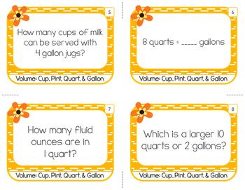 Volume: Cups, Pints, Quarts, & Gallons
