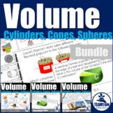 Volume: Cylinders, Cones, Spheres Activities Bundle