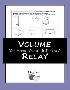 Volume (Cylinders, Cones, & Spheres) Relay (Game)