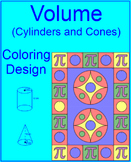 VOLUME: CYLINDERS AND CONES #1 - COLORING ACTIVITY