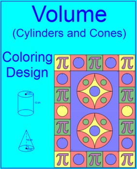 Volume - Cylinders and Cones Coloring Activity