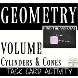 Volume Cylinders and Cones Match Up Activity 8.G.C.9.