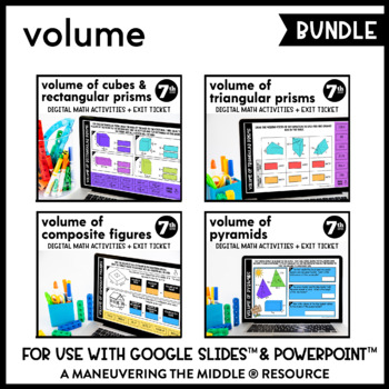 Volume - Digital Math Activities (Distance Learning) Google Slides