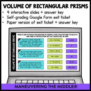 Volume - Digital Math Activities (Distance Learning) Google Slides
