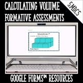 Calculating Volume Formative Assessments for Google Forms
