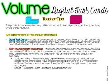 Volume Digital Task Cards for Google