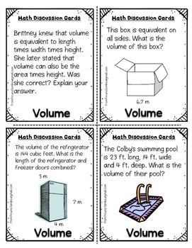 Volume Task and Discussion Cards